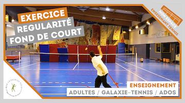 exercice regularite fond de court adultes galaxie tennis ados